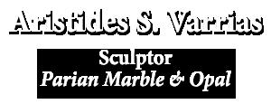 Aristides Varrias sculptor Parian marble & opal